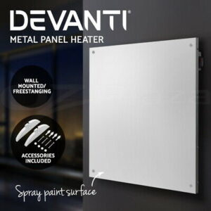 450W Slimline Wall Mount Panel Heater | Efficient Power Consumption @ 450w Metal &  Portable Caravan