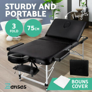 Portable Massage Table 75CM  3 Fold Aluminium for Therapy Beauty Bed Waxing  | eBay