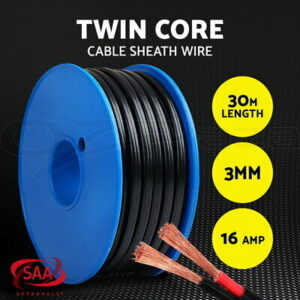3MM Twin Core Wire Electrical Cable Electric Extension 30M Car 450V 2 Sheath  | eBay