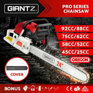 Giantz Commercial Petrol Chainsaw E-Start Bar Tree Pruning Chain Saw Top Handle | Products On Sale