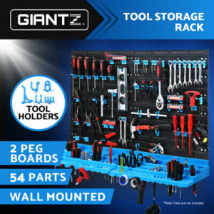 54 item Wall Organiser Storage Rack Bin Tools  Work Bench Garage