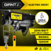 1300W Electric Hoist 400/800kg Remote Winch 20m Cable Rope Chain Lifting | Products On Sale