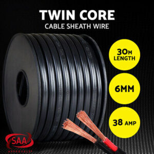 30M of 6MM 12v / 24v / 240v Twin Core Wire Electrical Cable Electric Extension 30M Car  2 Sheath  | eBay