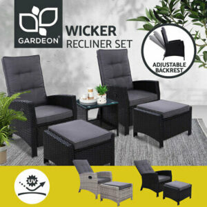 Outdoor  Sun Lounge Recliner Chairs  Wicker Sofa Patio Furniture | Products On Sale
