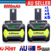 18V 6.0Ah Lithium Ion Battery For Ryobi P108 ONE+ Plus P104 P102 P103 P107 P109  | Products On Sale